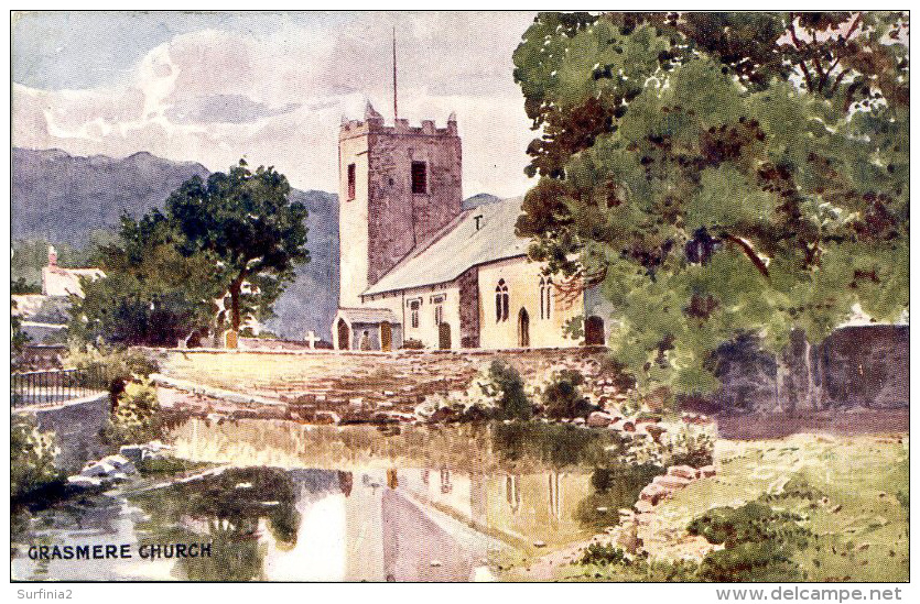 MISCELLANEOUS ART - GRASMERE CHURCH  Art271 - Cumberland/ Westmorland