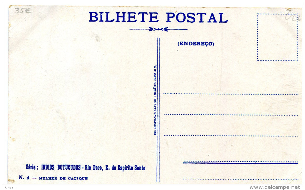 BRESIL(RIO DOCE) TYPE INDIEN(NUE) - Curitiba