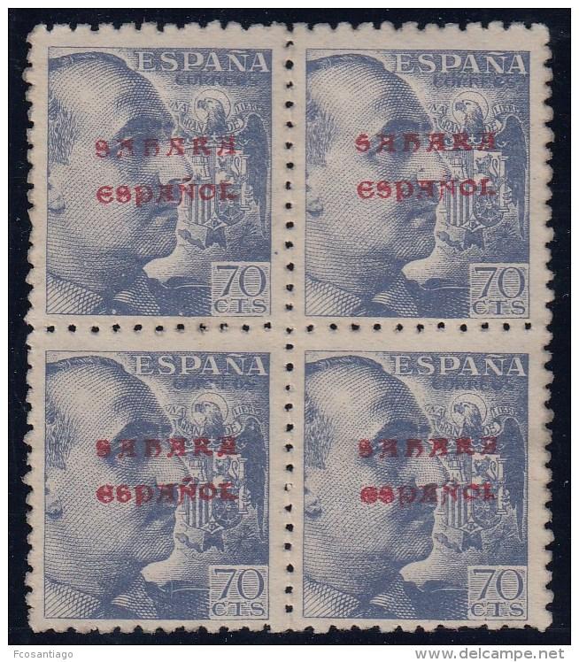 ESPAÑA/SAHARA 1941 - Edifil #58 - MNH ** - Bloque De 4 - Sahara Spagnolo