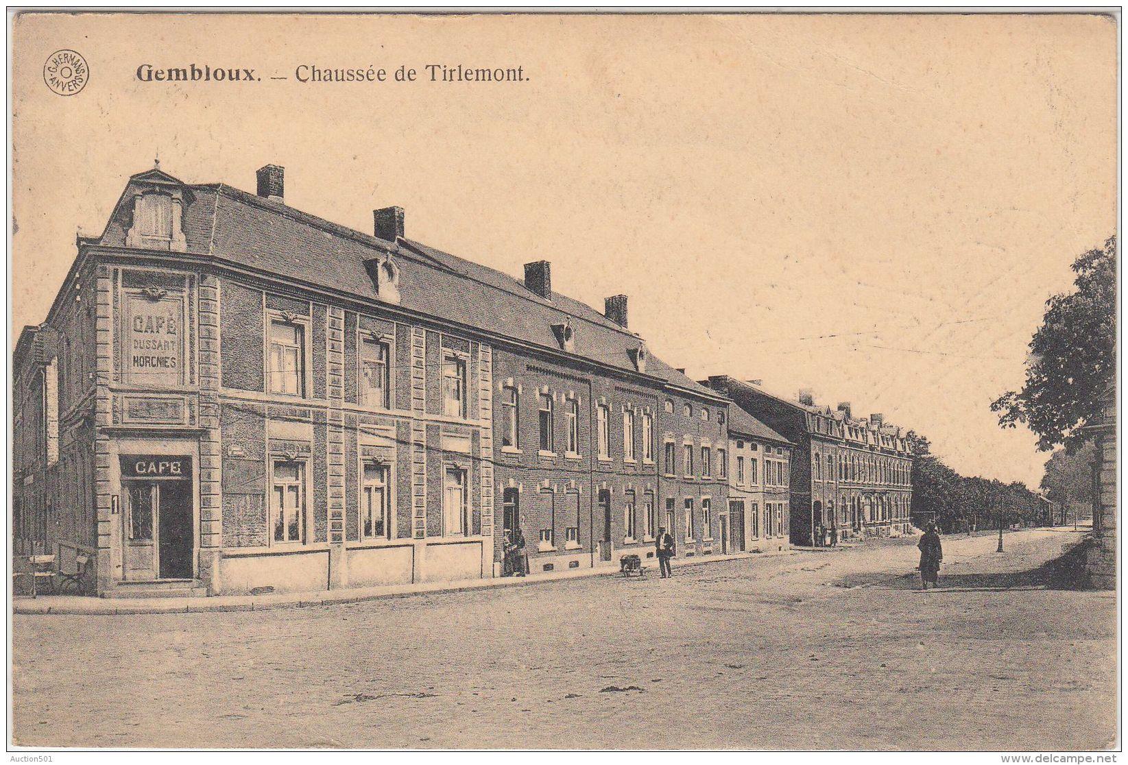 27202g  CAFE DUSSART HORCNIES - CHAUSSEE DE TIRLEMONT - Gembloux - Gembloux