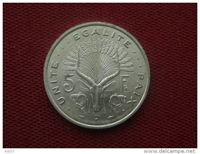 DJIBOUTI Monnaie De 5 Frs 1977 SUP - Djibouti