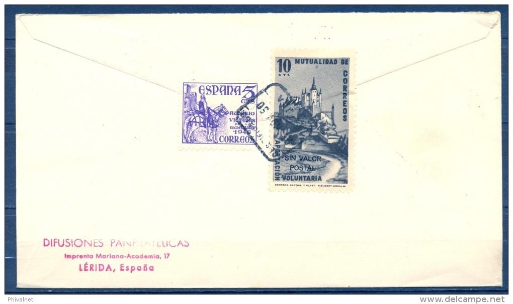 1950 , GUINEA ESPAÑOLA , ED. 294 , SOBRE DE PRIMER DIA DE CIRCULACIÓN , DIA DEL SELLO COLONIAL - Guinea Española