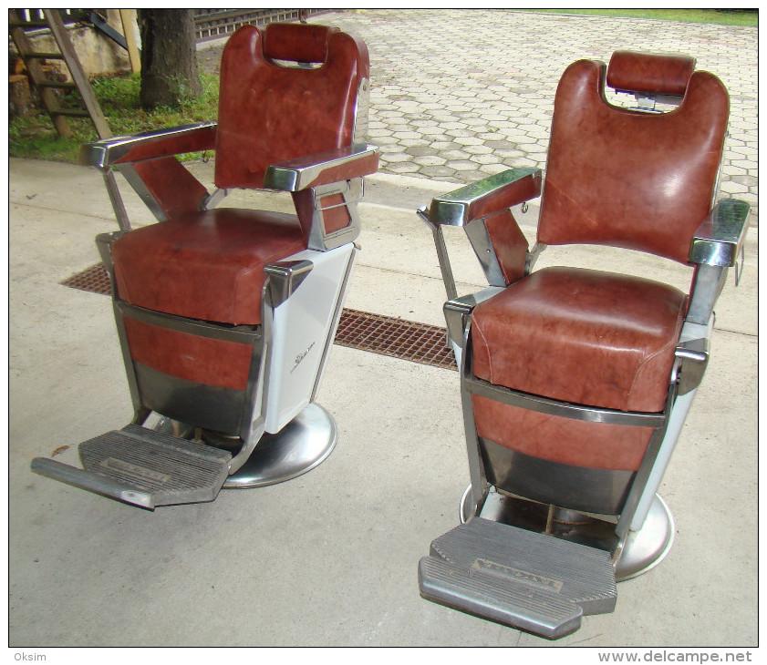 ... RARE VINTAGE TAKARA BELMONT BARBER CHAIR, 1950s, 2 CHAIRS - Furniture  ... - Furniture - RARE VINTAGE TAKARA BELMONT BARBER CHAIR, 1950s, 2 CHAIRS