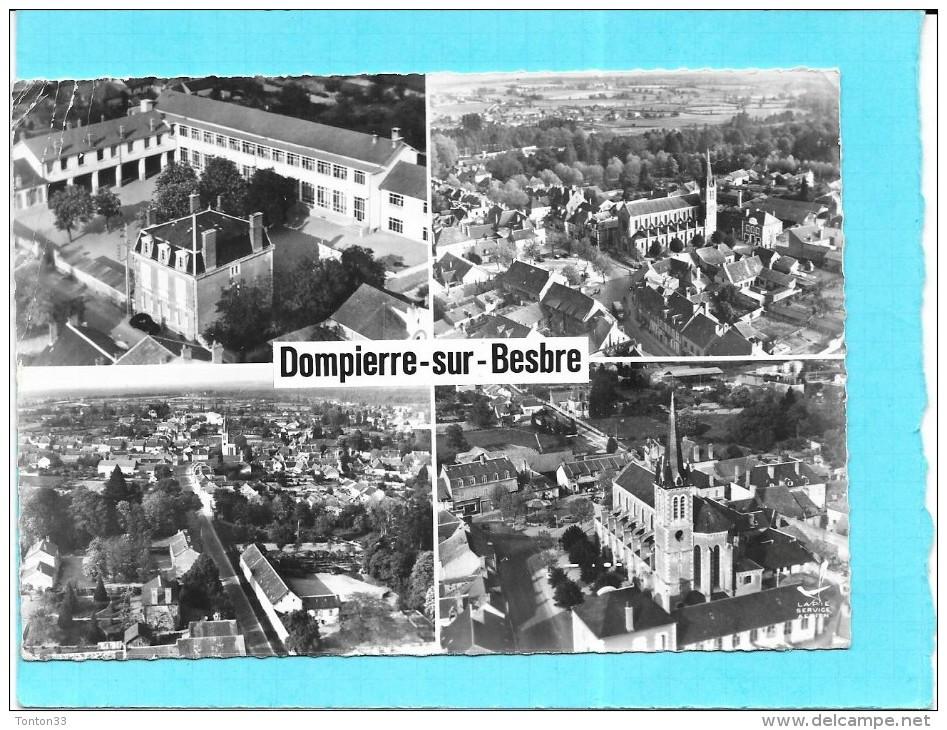 DEPT 03 - EN AVION AU DESSUS DE.........  DOMPIERRE SUR BESBRE - MULTIVUES - 4 Vues De La Ville - SM - - France