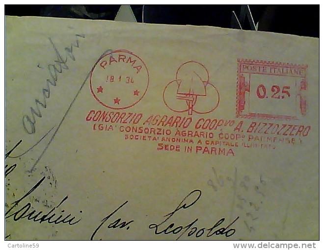 BUSTA DITTA PARMA COSORZIO COOPERATIVA BIZZOZZERO COOP PARMENSE   EMA  ROSSA 1934 VB1934  FM2310 - Parma