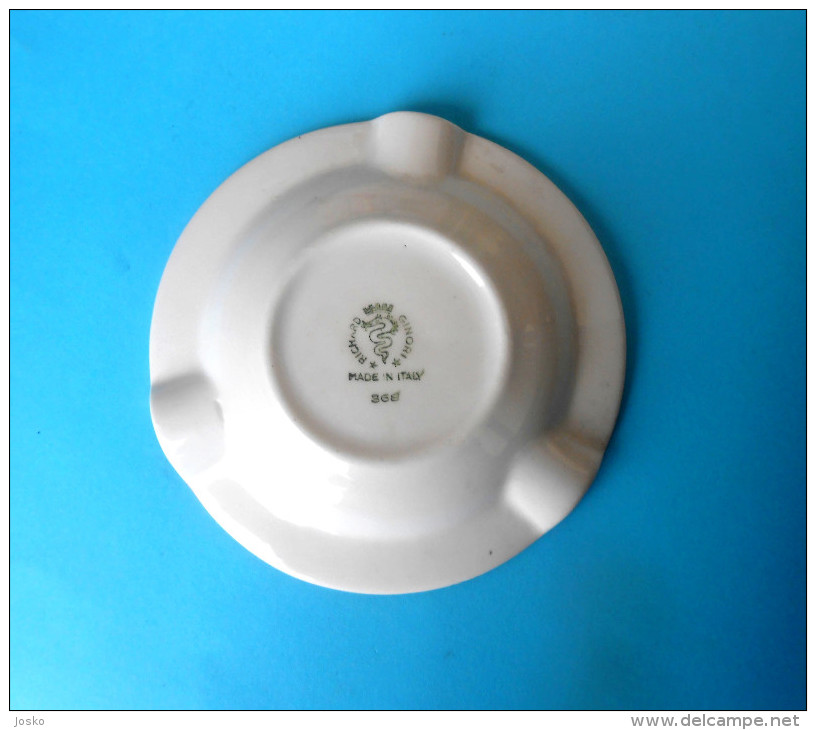 UNITED STATES ... U.S. NAVY - SIXTH FLEET - Nice Porcelain Ashtray Made In Italy * Aschenbecher Posacenere Marine Marina - Boats