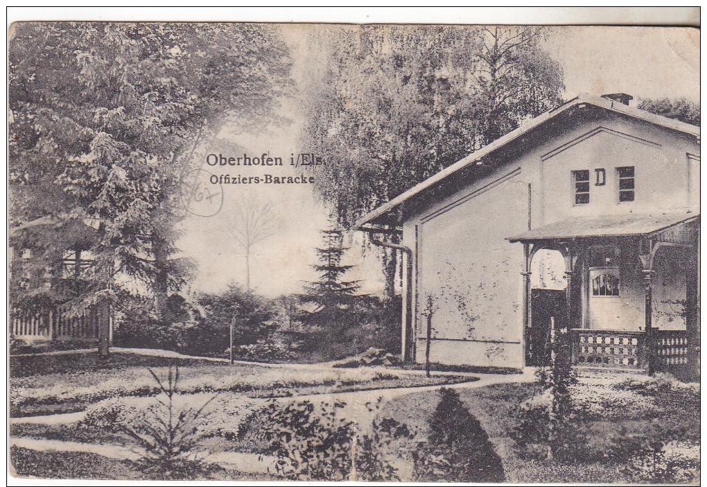 67 (Haguenau) Oberhofen I/Els. Offiziers-Baracke. édit H Diez Datée 1913. Carte Pliée (peu Visible) Sinon Bon état. - Haguenau