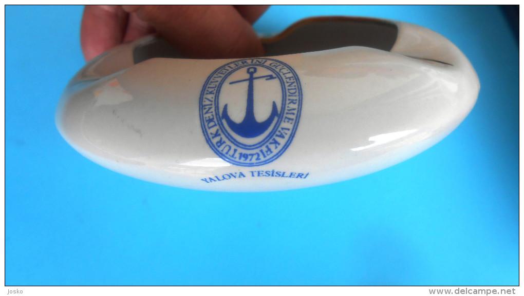 Türk Deniz Kuvvetlerini Güçlendirme Vakfı 1972 Yalova Tesisleri Turkey Ashtray Aschenbecher Turkiye Turquie Turchia - Boats