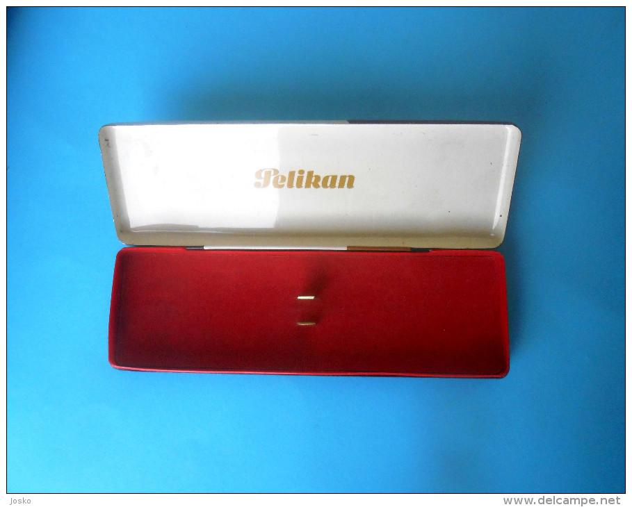 PELIKAN - Vintage Tin Box * Vieille Boîte Alte Zinn Vecchia Latta Vieja De Estaño Fountain Pen Pens Pencil Pencils RR - Dosen
