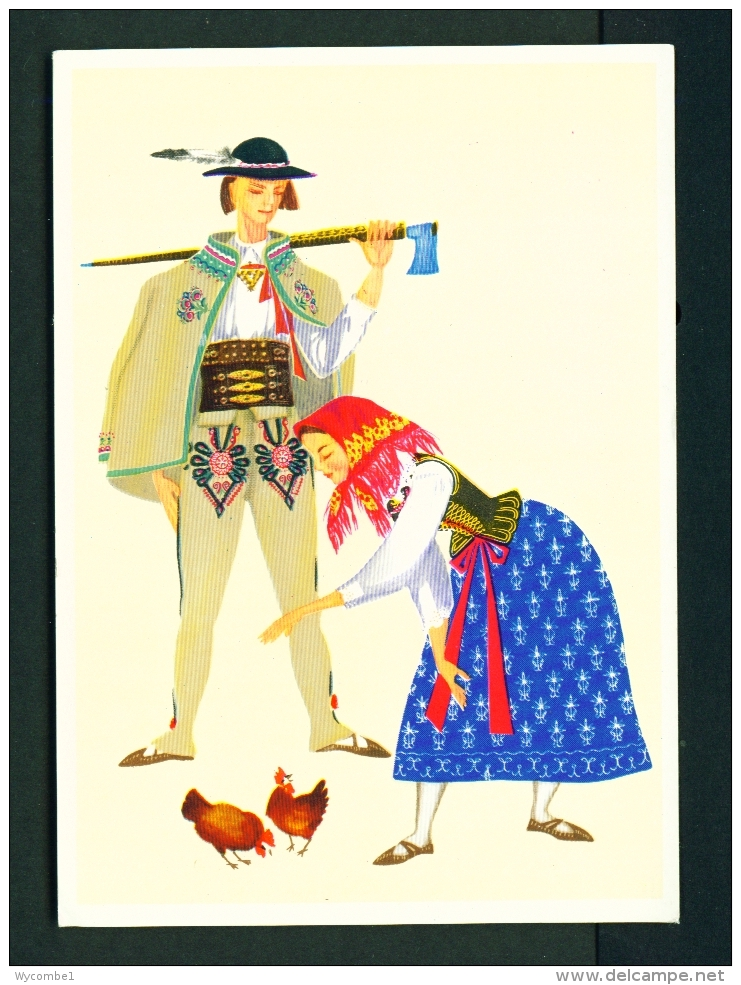 POLAND  -  Regional Costume  South Krakow Mountain Region  Unused Postcard - Costumes