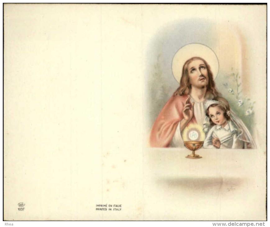 COMMUNIANTS - Lot De 6 Images Pieuses Pouvant Se Plier Leur Milieu - Images Religieuses