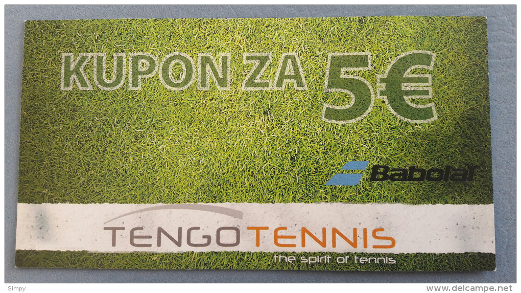 SLOVENIA - 5 Euro Tengo Coupon 2015  For Tennis Shop  UNC - Slovénie