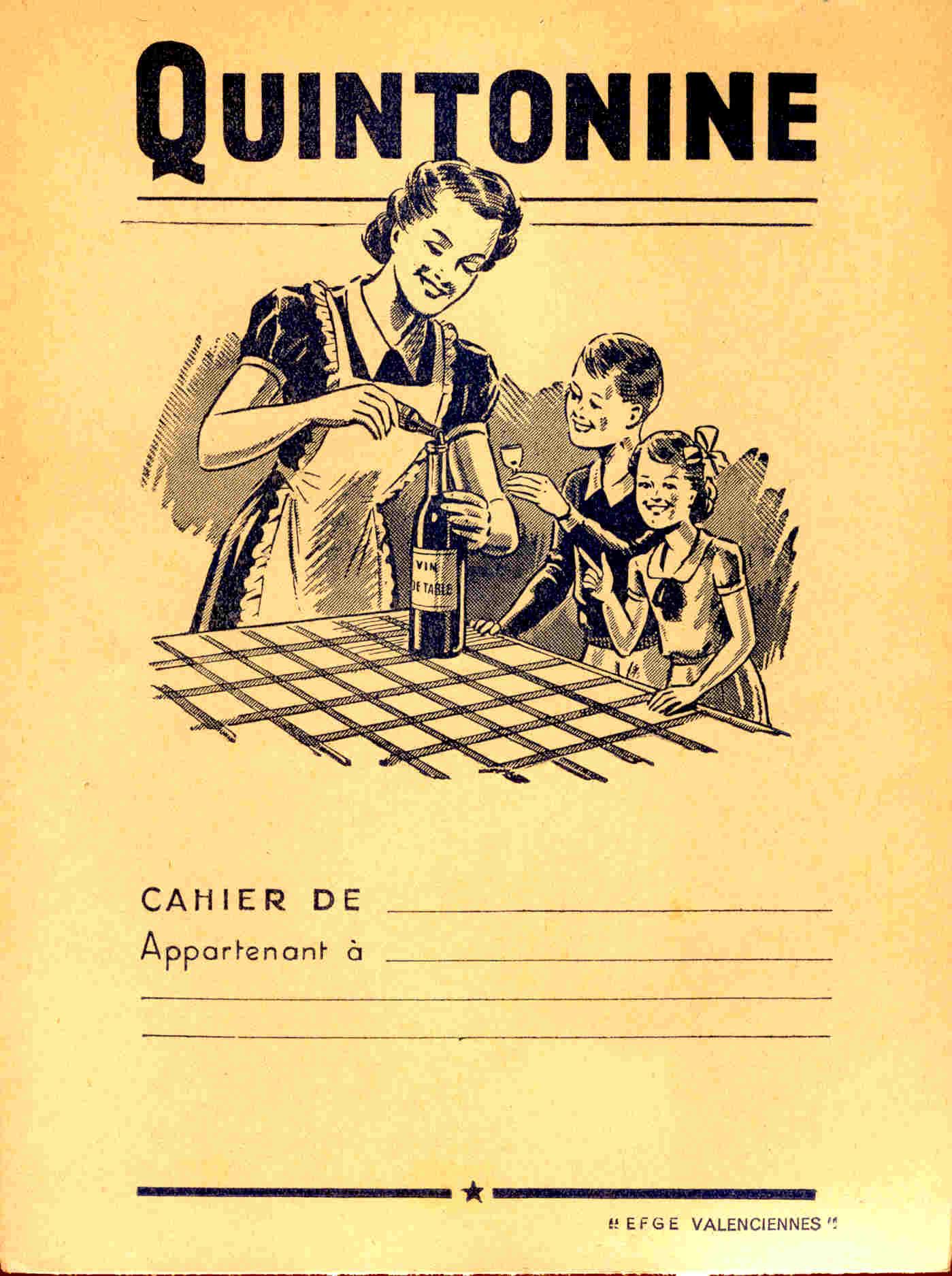 Protège Cahier Quintonine - Produits Pharmaceutiques