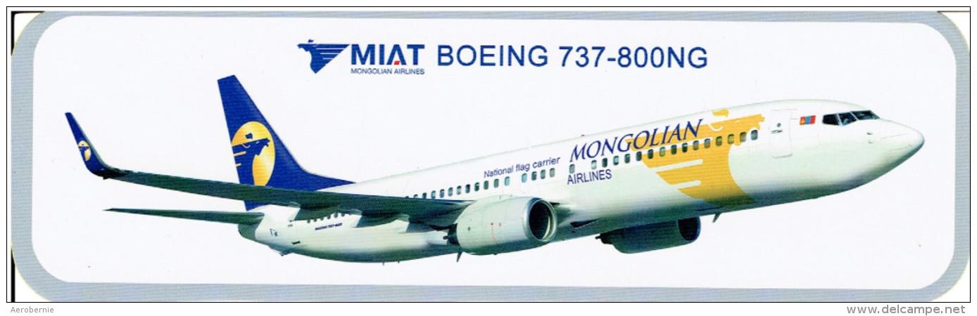 Aufkleber MIAT - Mongolian Airlines / Boeing 737-800NG - Aufkleber
