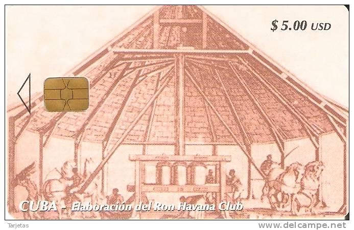 TARJETA DE CUBA DE LA SERIE DEL RON  TRAPICHES  Nº2 - Cuba