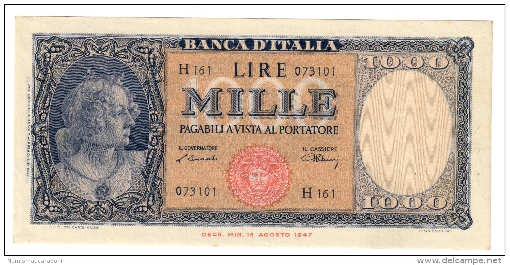1000 LIRE Italia Medusa 10 02 1948  Naturale Raro Sup  LOTTO 1186 - 1000 Lire