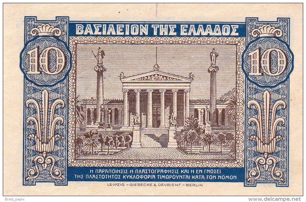 GRECE - BILLET DE 10  DRACHMAI - 1940 - Greece