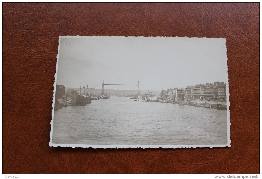 CARTE PHOTO 76  * ROUEN  LE PONT TRANSBORDEUR - Rouen
