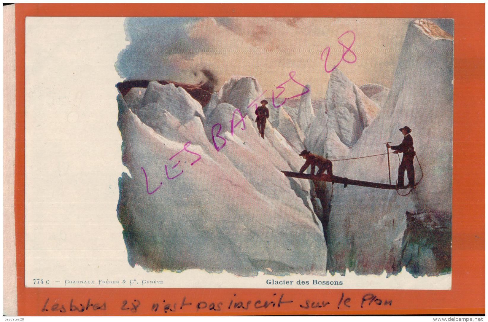 CPA 93  Glacier Des Bossons   Personnes    AV 2016 1037 - Chamonix-Mont-Blanc