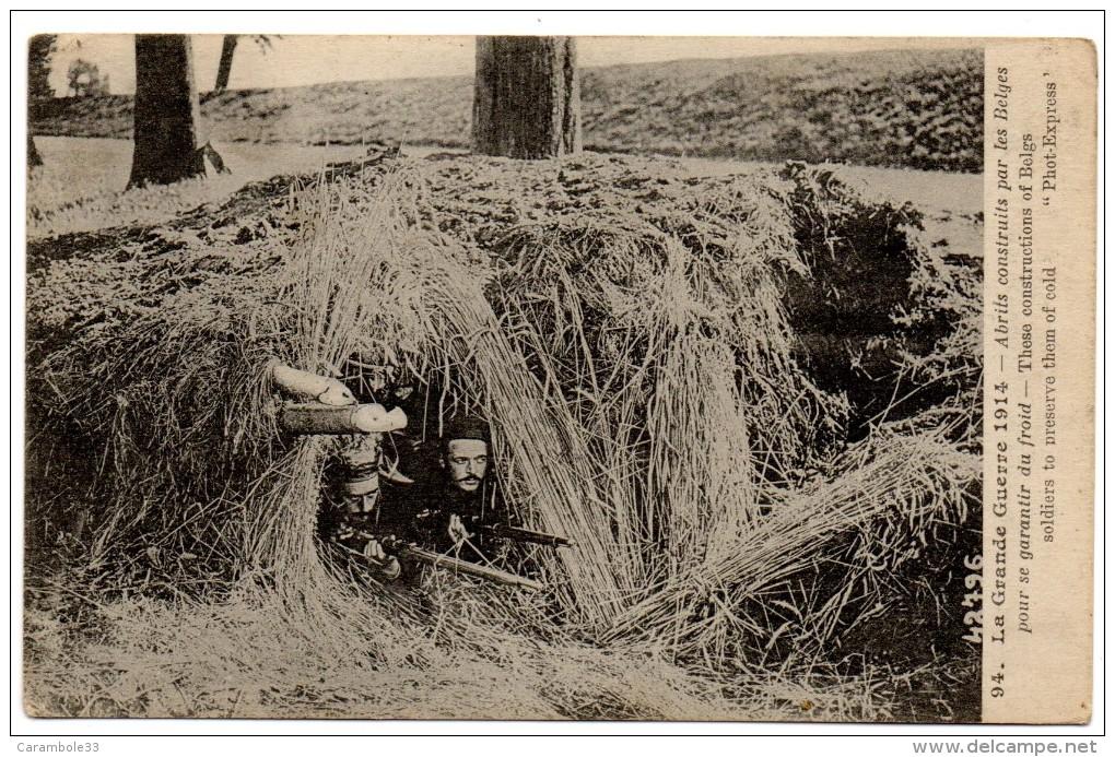 CPA Grande Guerre 1914 Abrits Construits Par Les Belges Pour Se Garantir Du Froid Posté De Salonique 1916 9403 - Guerre 1914-18