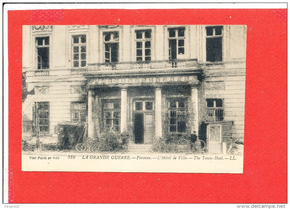 80 PERONNE Cpa Animée Hotel De Ville      910 LL - Peronne