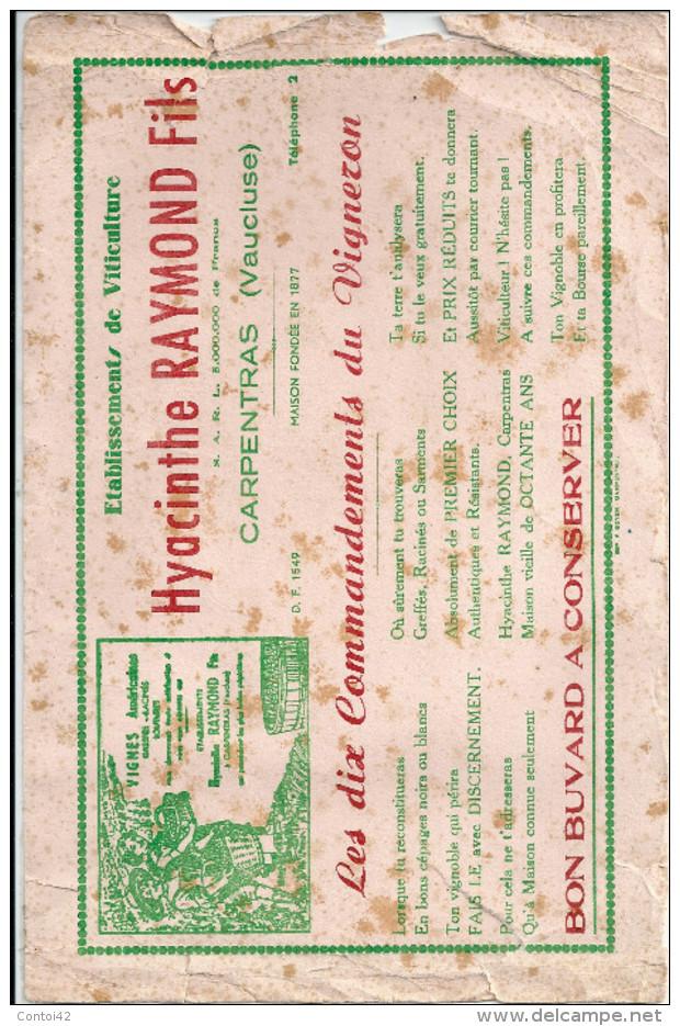 84 CARPENTRAS VITICULTURE VIN AGRICULTURE BUVARD CIGARETTES PAPIER - Agriculture