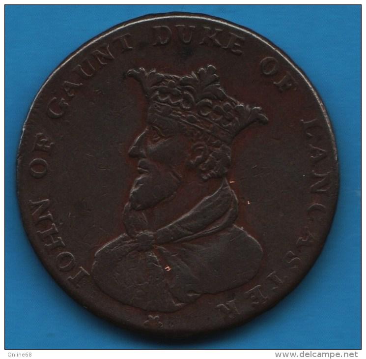 """LANCASHIRE - Lancaster """"John Of Gaunt"""" 1/2 HALF PENNY 1794  DH#43 - Professionnels/De Société"""