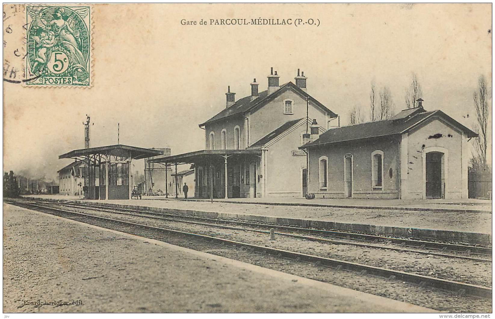 PARCOUL-MEDILLAC  - GARE - France