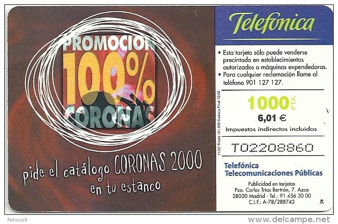Spain - Coronas - CP-198 - 11.2000, 101.300ex, Used - España
