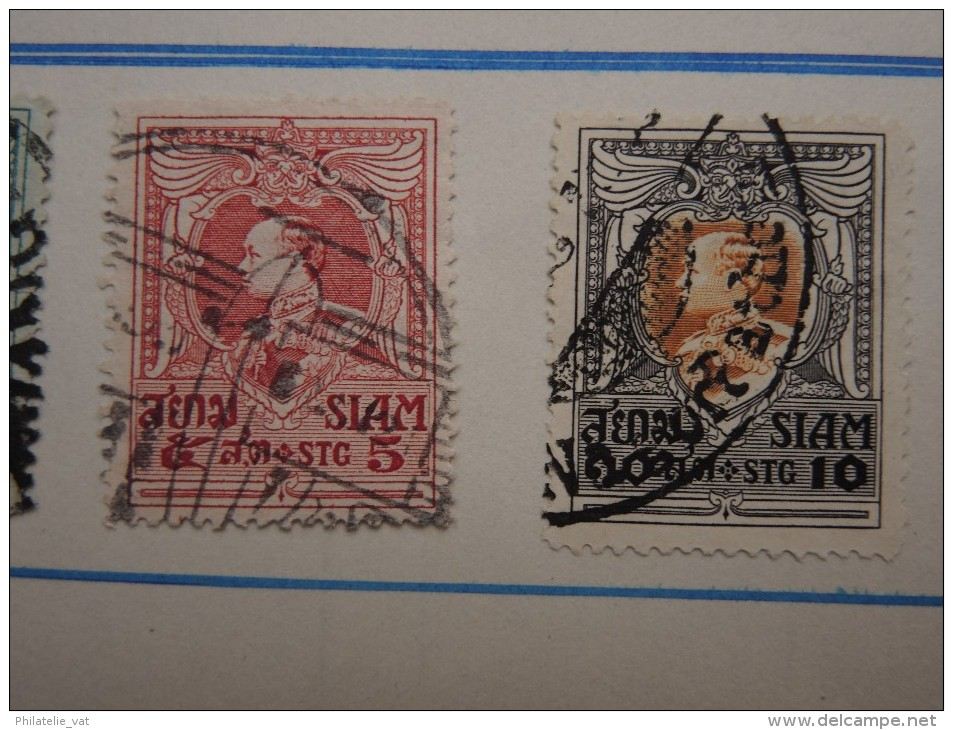 SIAM - Petite Collection Sur Feuille D'album - Voir Aussi Pour Oblitération - A Voir - Lot N° 16481 - Siam