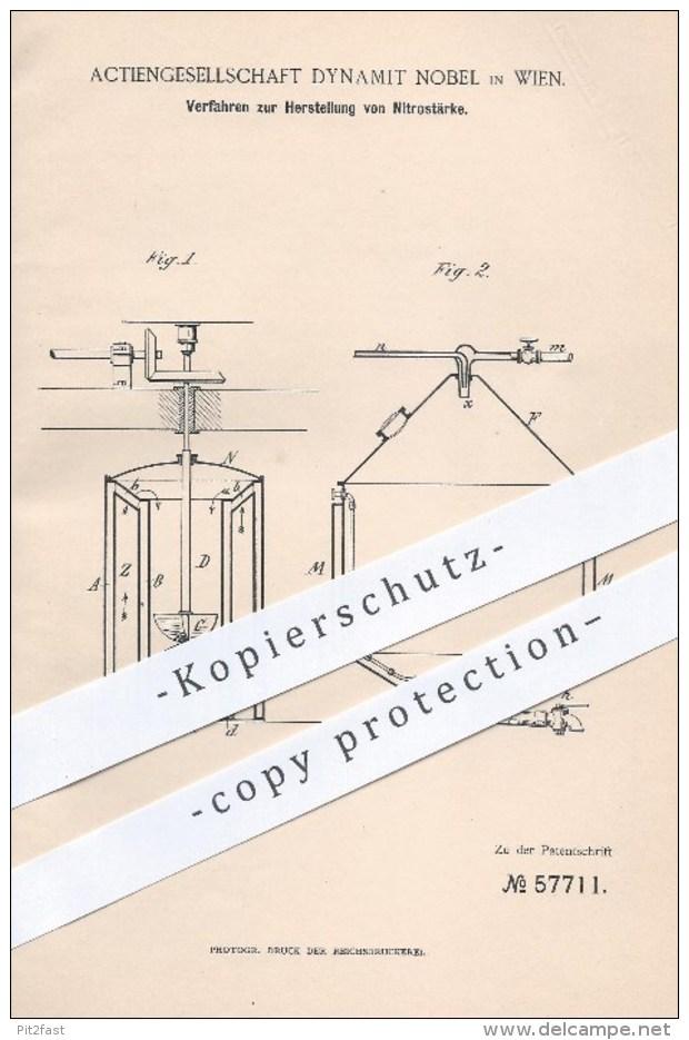 Original Patent - AG Dynamit Nobel , Wien , 1890 , Herstellung Von Nitrostärke , Sprengstoff , Sprengmittel , Stärke !!! - Historische Dokumente
