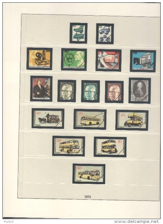 Berlin Lindner Artikel 120 C Vordruckblätter Farbig  Im Ringbinder Mit Schuber 1980 - 1990 Gebraucht Ohne Marken - Albums & Binders