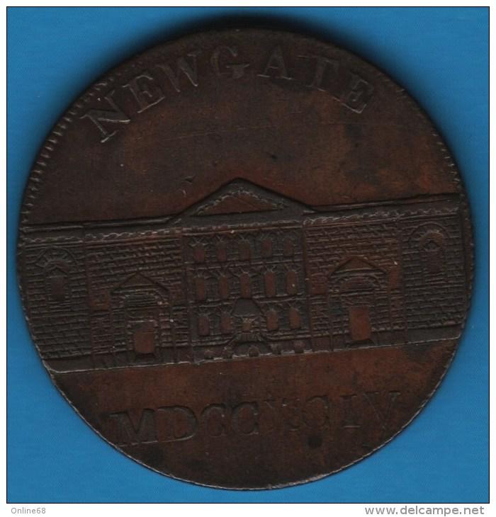 Middlesex - Newgate PRISON  1/2 HALF PENNY 1794  D&H 393 - Professionnels/De Société