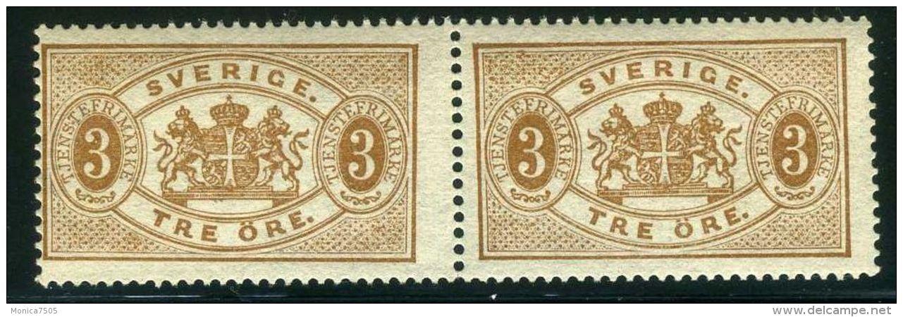 SUEDE ( SERVICE/D 13 ) : Y&T N°  1 X 2 TIMBRES  NEUFS  SANS  TRACE  DE  CHARNIERE , GOMME  D ORIGINE , A  VOIR  . - Officials