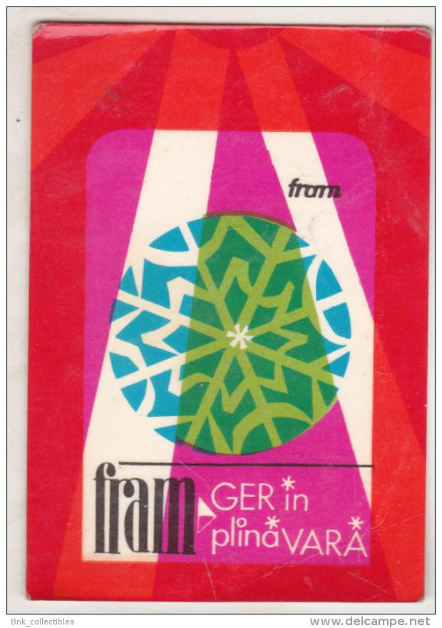 Romanian Small Calendar - 1969 FRAM - Advertising - Calendriers