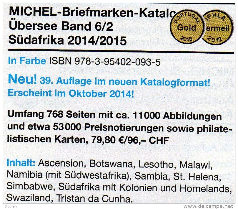 Südafrika Part 6/2 Catalogue 2014 New 80€ MICHEL South-Africa Botswana Lesetho Malawi Namibia Sambia Südafrika Swaziland - Books & CDs