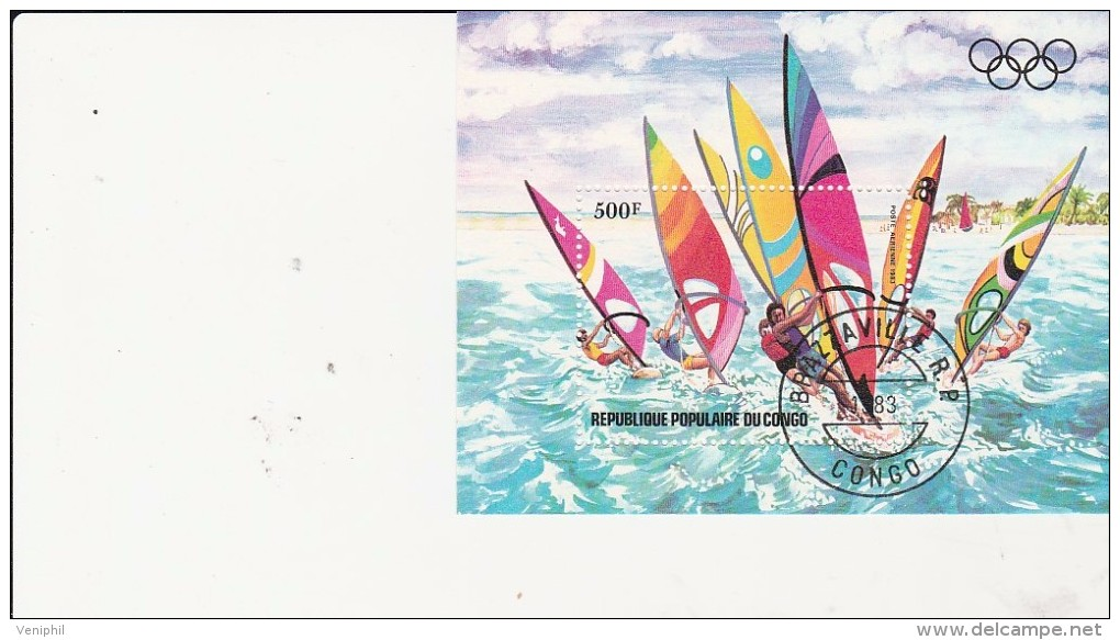 CONGO -  BLOC FEUILLET N° 33 OBLITERE  -ANNEE 1983 - Oblitérés