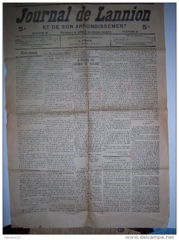 JOURNAL DE LANNION 19 JUIN 1915 Bretagne - Livres, BD, Revues