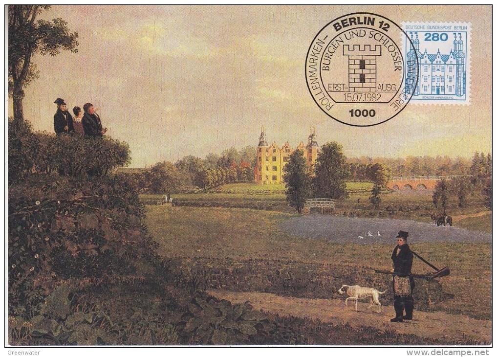 Berlin 1982 Burgen Und Schlosser / Schloss Ahrensburg 1v Maxicard (30444) - [5] Berlijn