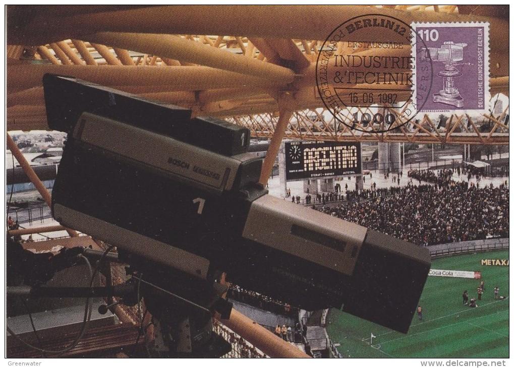 Berlin 1982 Technik / Farbfernsehkamera 1v Maximum Card (30447) - Maximum Kaarten
