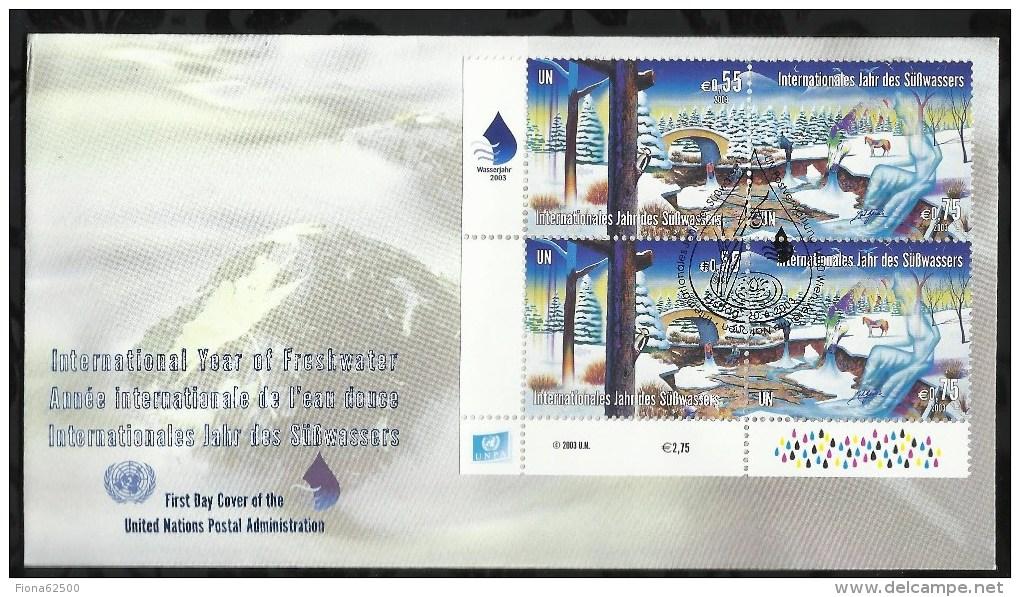 ANNEE INTERNATIONALE DE L'EAU DOUCE .  24 OCTOBRE 2003  .  VIENNE  . - FDC