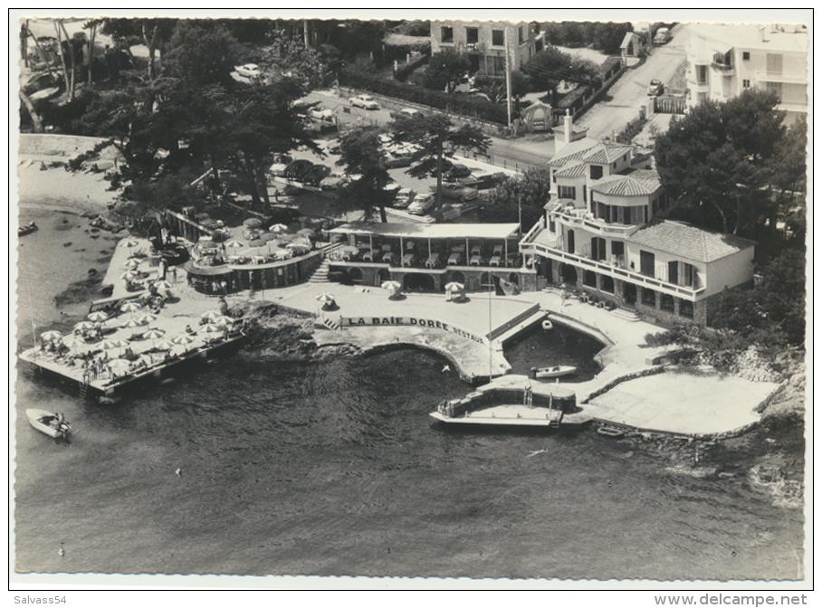 """06 - ANTIBES : Vue Aérienne Sur Le Restaurant """"La Baie Dorée"""" (1966) - Antibes"""