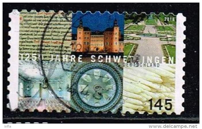 Bund 2016, Michel# 3221 O 1250 Jahre Schwetzingen Selbstklebend, Self-adhesive - BRD