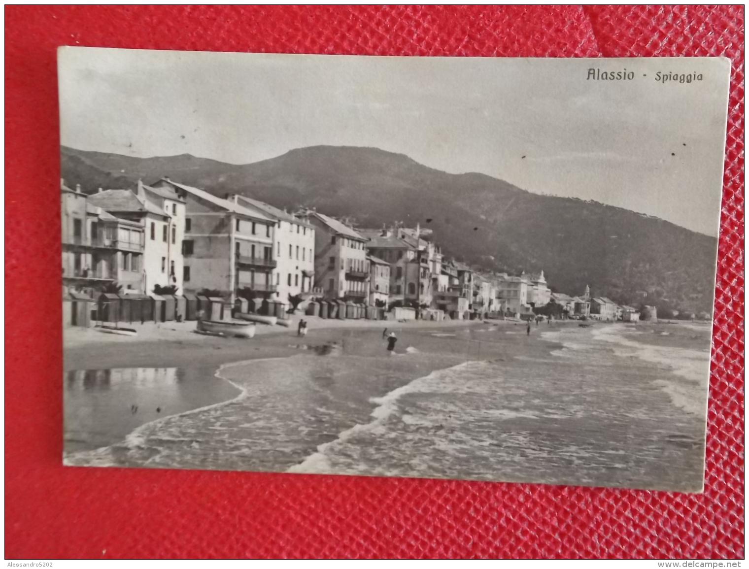 Alassio La Spiaggia  Savona Primi 1900 Ed. Brunner N. 16521 - Italia
