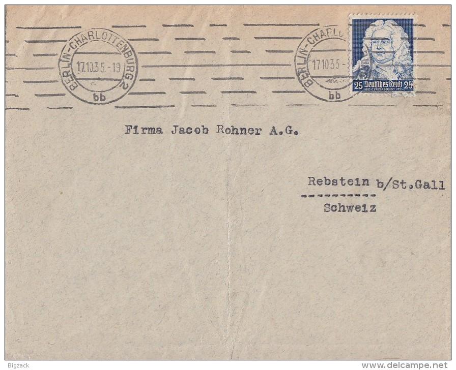 DR Brief EF Minr.575 Berlin 17.10.35 Gel. In Schweiz - Briefe U. Dokumente