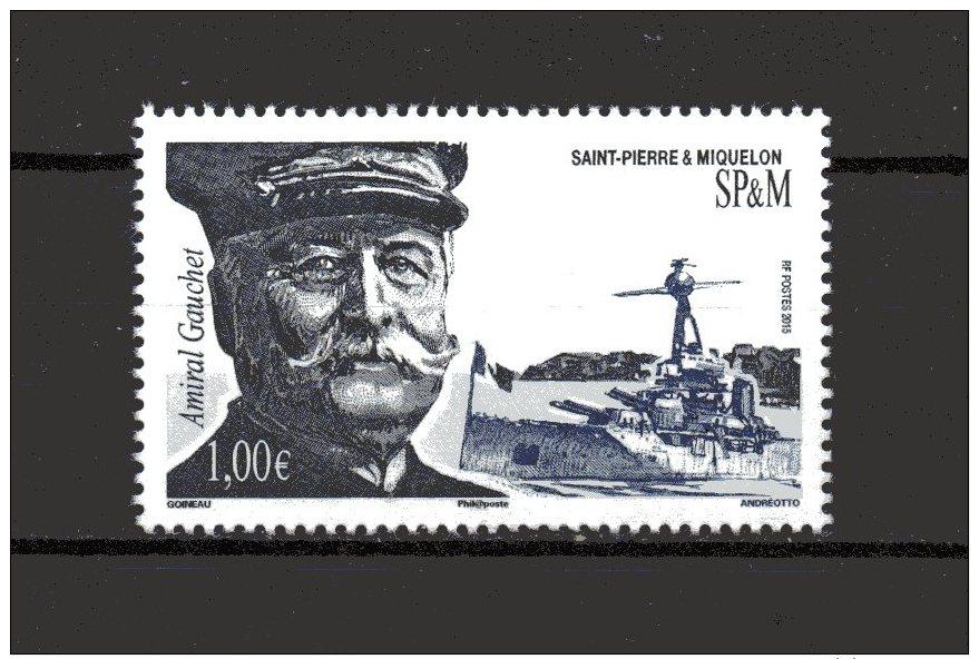 N° 1146 De 2015 - 1.00  €  - L´Amiral Gauchet - St.Pierre & Miquelon
