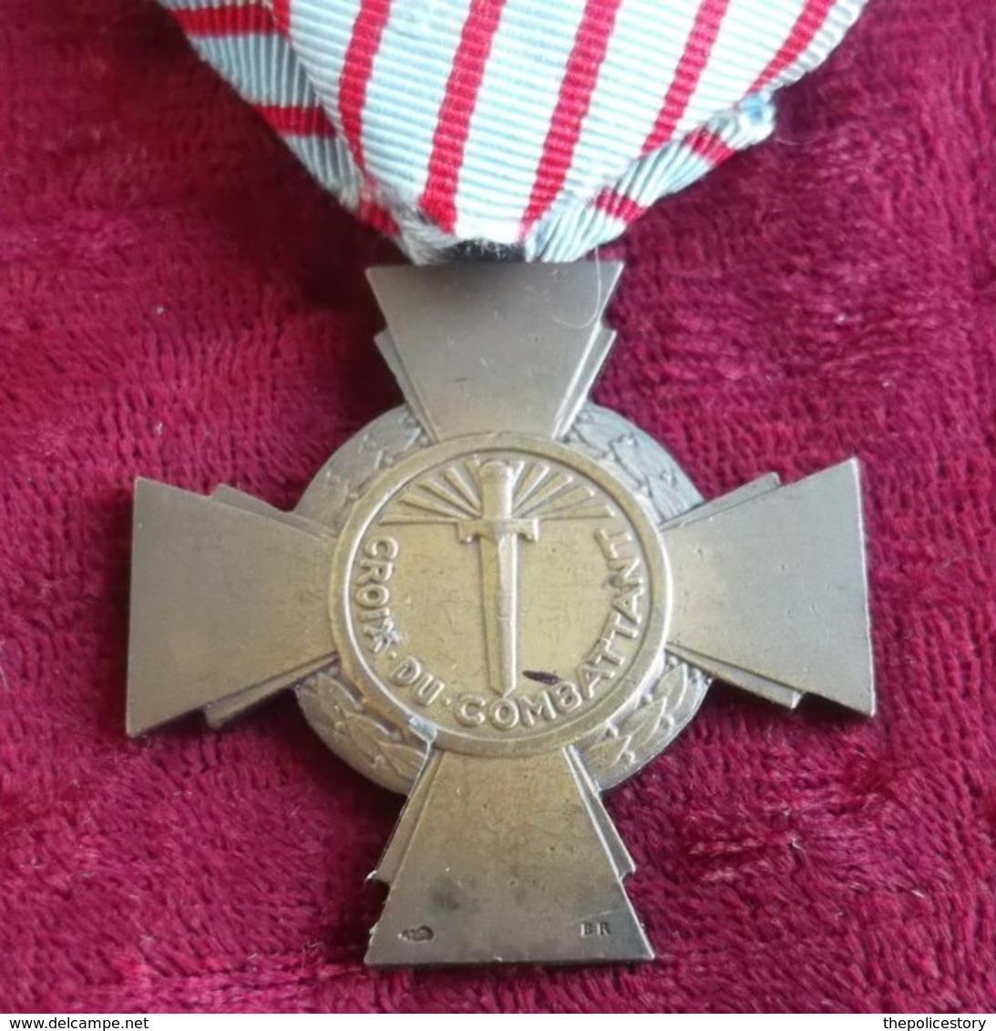 Croix Du Combattant France 1926 Originale Marcata - Francia