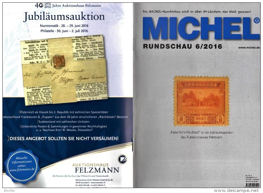 Briefmarken Rundschau MICHEL 6/2016 Neu 6€ New Stamps Of The World Catalogue/ Magacine Of Germany ISBN 978-3-95402-600-5 - Deutsch