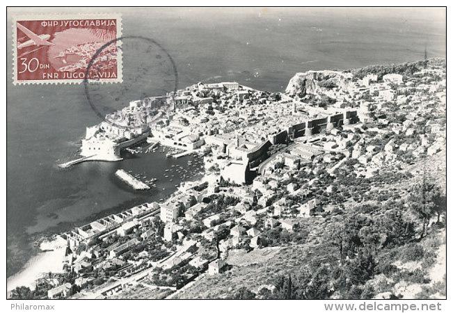 D24021 CARTE MAXIMUM CARD 1964 YUGOSLAVIA - GENERAL VIEW DUBROVNIK CP ORIGINAL - Architecture