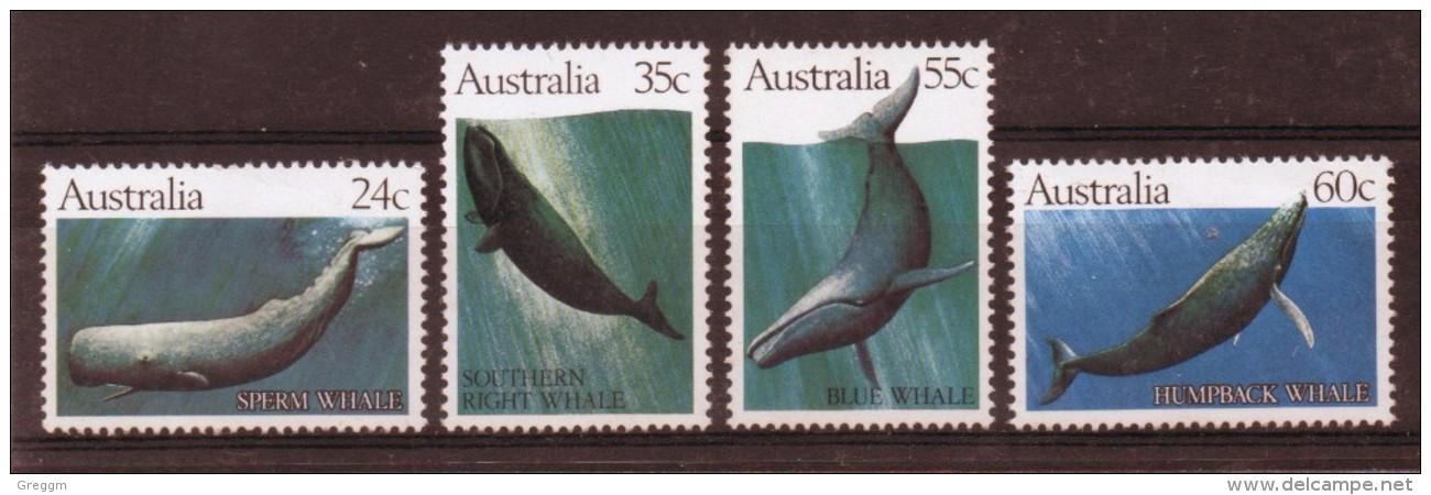 Australia Set Of Stamps Each Showing Whales - 1980-89 Elizabeth II